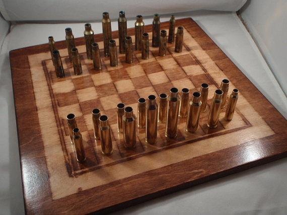 Bullet Casing Chess Set | Looks Interesting | Chess ...