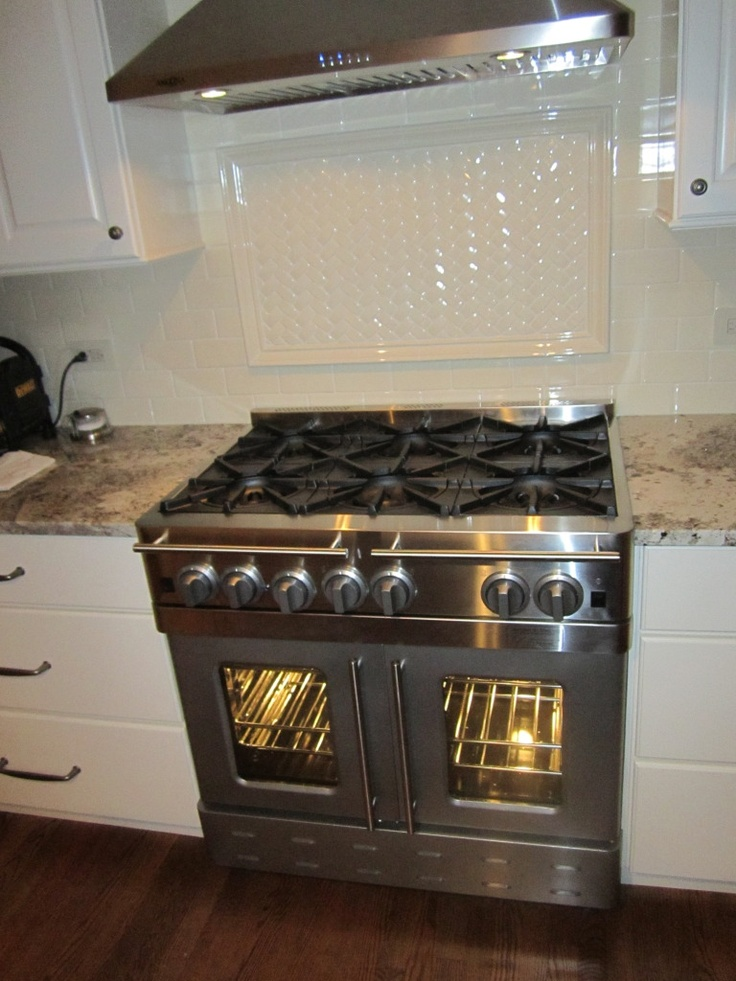 Blue Star french door oven-this makes way more sense the normal ovens.