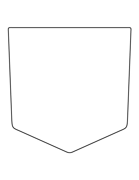 Pocket pattern Use the printable outline for crafts, creating - pocket t shirt template