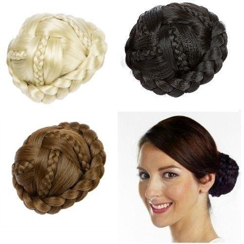 Hair Extension Braided Clip In On Hair BunHair pieces in Health &…