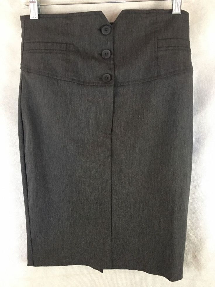 """Love Culture Gray Stretch Pencil Skirt Womens Waist 30""""  Knee Length #LoveCulture #StraightPencil"""