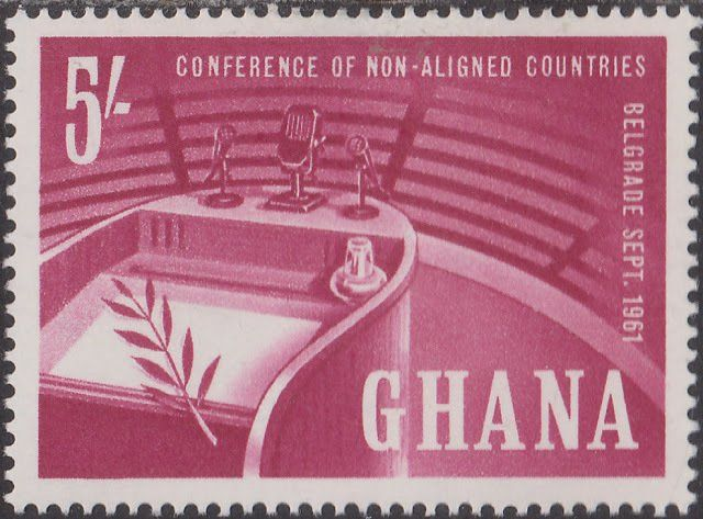 1961: Rostrum and olive branch (גאנה) (Conference of Non-aligned Nations) Mi:GH 105,Sn:GH 103