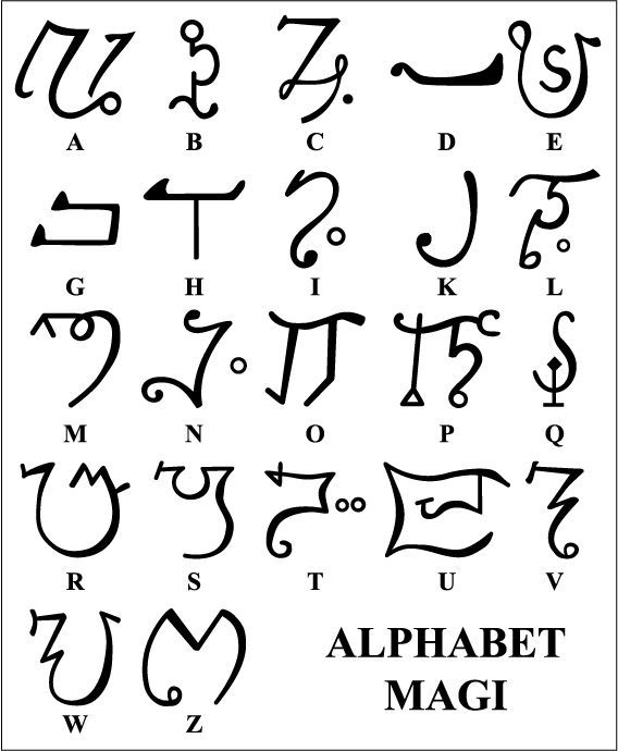Alphabet Magi. http://en.wikipedia.org/wiki/Alphabet_of_the_Magi