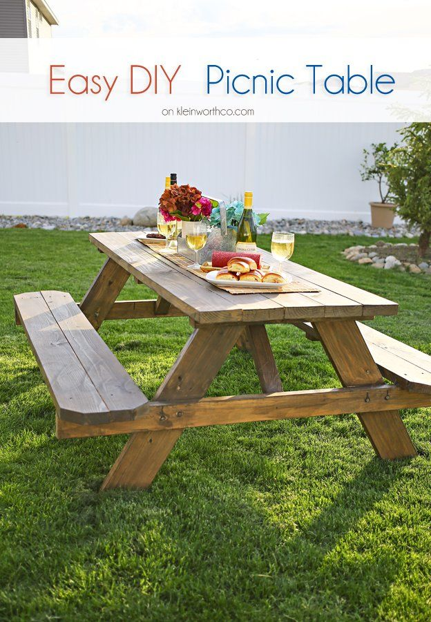 17 best ideas about pallet picnic tables on pinterest pallet table outdoor diy pallet. Black Bedroom Furniture Sets. Home Design Ideas