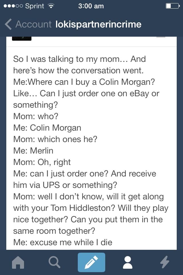 Merlin and Tom hiddleston tumblr funny