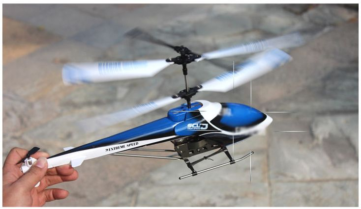 New Blue Length 22CM Remote Control Plane Helicopter Model Gift Children Toys