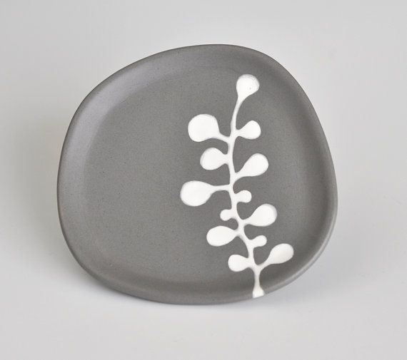 small decorative ceramic plate  abstract berries in by hopejohnson