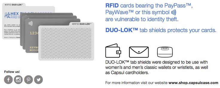 RFID protection #duolok shop.capsulcase.com #travel #wallet #cardcase