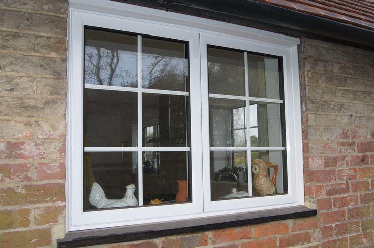 white aluminium window with external georgian bars white. Black Bedroom Furniture Sets. Home Design Ideas
