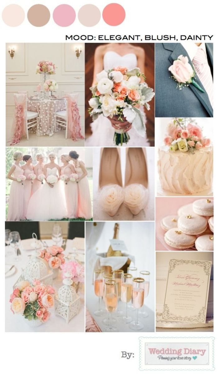 a blush color palette with glamorous inspiration for your wedding day