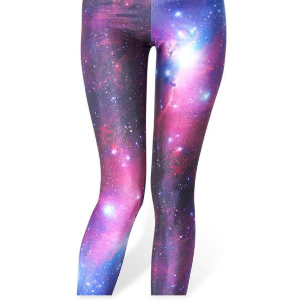 Galaxy Purple Leggings (99 AUD) ❤ liked on Polyvore featuring pants, leggings, bottoms, tights, jeans, galaxy pants, nebula print leggings, galactic leggings, galaxy print pants and legging pants