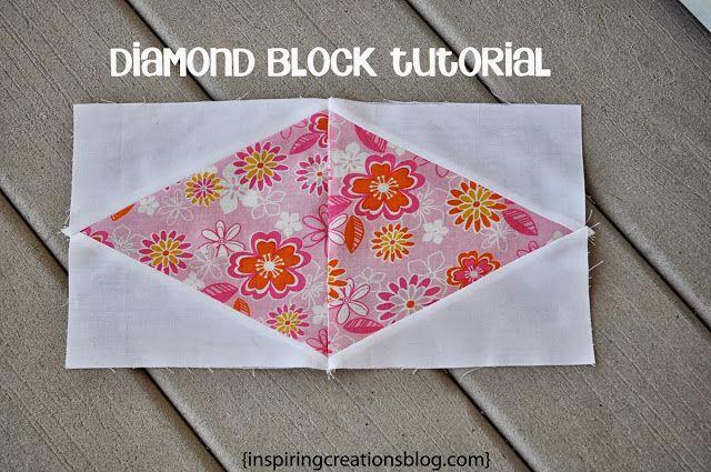 Diamond Quilt Block Tutorial