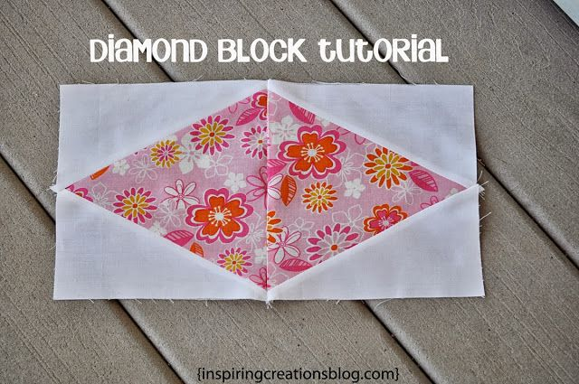Diamond Quilt Block Tutorial