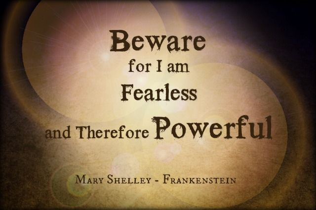 Steph's Stacks: Quote of the Week: Frankenstein by Mary Shelley