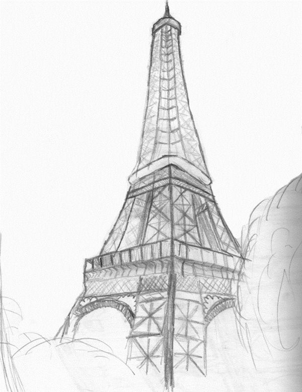 70 Easy And Beautiful Eiffel Tower Drawing And Sketches Eiffel Tower Drawing Beautiful Easy Drawings Easy Drawings Sketches