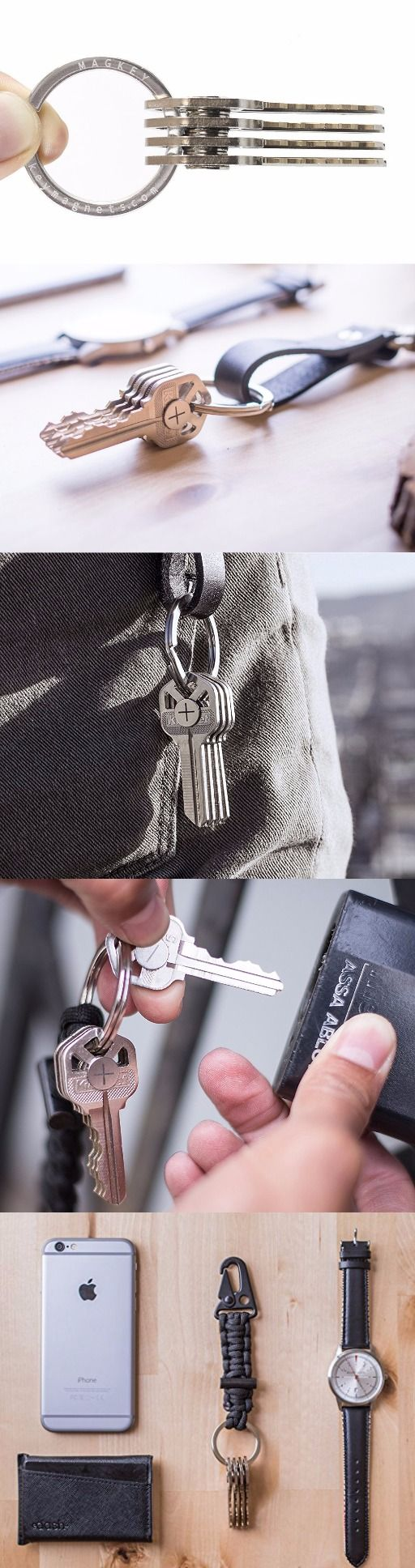 MAGKEY Stainless Steel Magnet EDC Everyday Carry Key Organizer Keychain Ring @aegisgears #everydaycarry