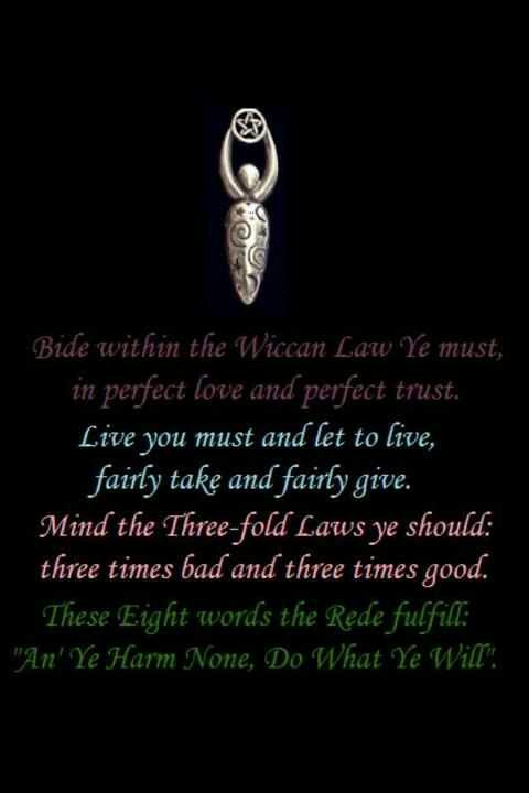 Wiccan quote, and rule
