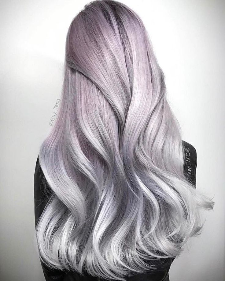 "guy tang pearl hair Oh, @guy_tang. Giving us all the feels with this one! Created using @guytang_mydentity Silver Smoke and Dusty Lavender demo colors, with #Olaplex every step of the way of course. Guy's Tip: ""Remember #HairBesties, the purist silvers have to be on a level 10 clean canvas!"