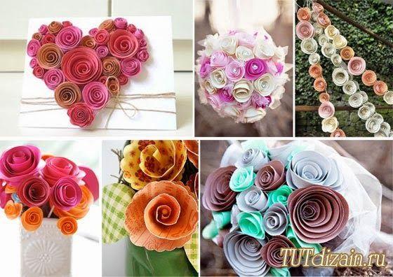 creatief besparen en meer: bloemen van behang-papier