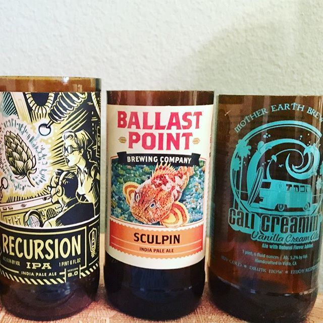 Happy National Beer 🍻 Day! On this day in 1933, Franklin D. Roosevelt signed a bill that legalized the sale of beer after years of Prohibition. Celebrate with one of these hand cut beer bottles from So Cal breweries @motherearthbrewco @ballastpointbrewing @bottlelogicbrewing and we will transform them into a beautiful soy candle! Message me to place an order! #Repurposed #soycandles #candles #scentedcandles #candleporn #iheartcandles  #beerlovers #sandiegobeer #buylocal #localartists…