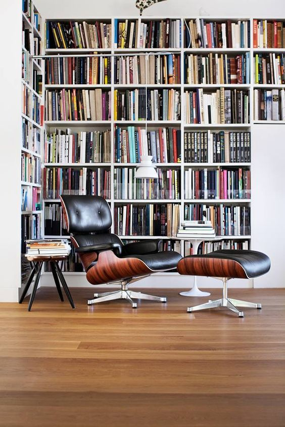 """IKEA BILLY - urbnite: """"Eames Lounge and Ottoman """""""