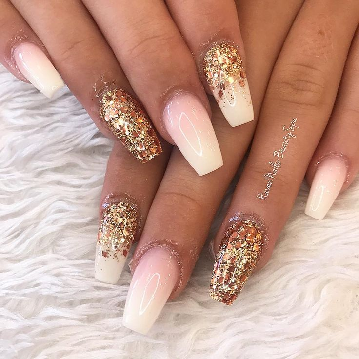 "Haven Nails – Beauty & Spa on Instagram: ""💕baby boomers pink and rose gold …"