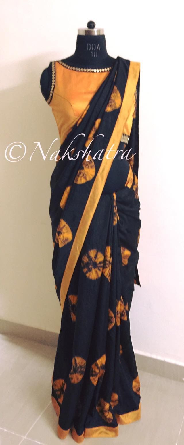 Saree with sleeveless Blouse