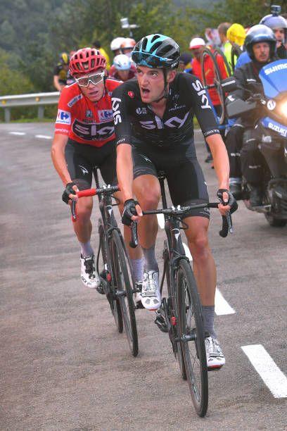 72nd Tour of Spain 2017 / Stage 20  Wout POELS / Christopher FROOME Red Leader Jersey / Corvera de Asturias Alto de L'Angliru 1560m / La Vuelta /