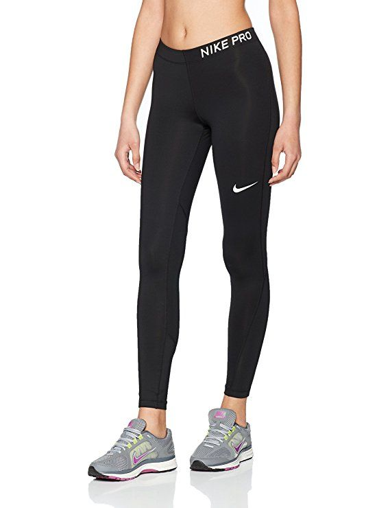 NIKE Women's Pro Tights Black/White Size Medium #affiliate ...