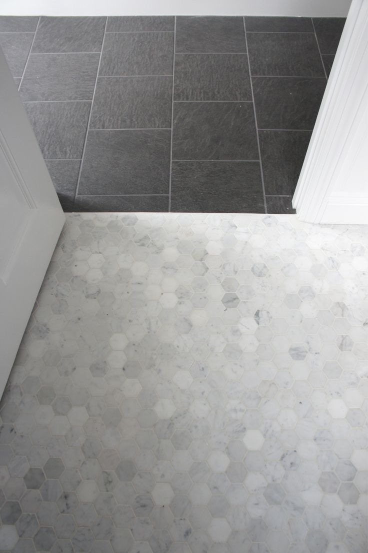 1000 Images About Hexagon Marble Mosaic Tiles On Pinterest: marble hex tile bathroom floor
