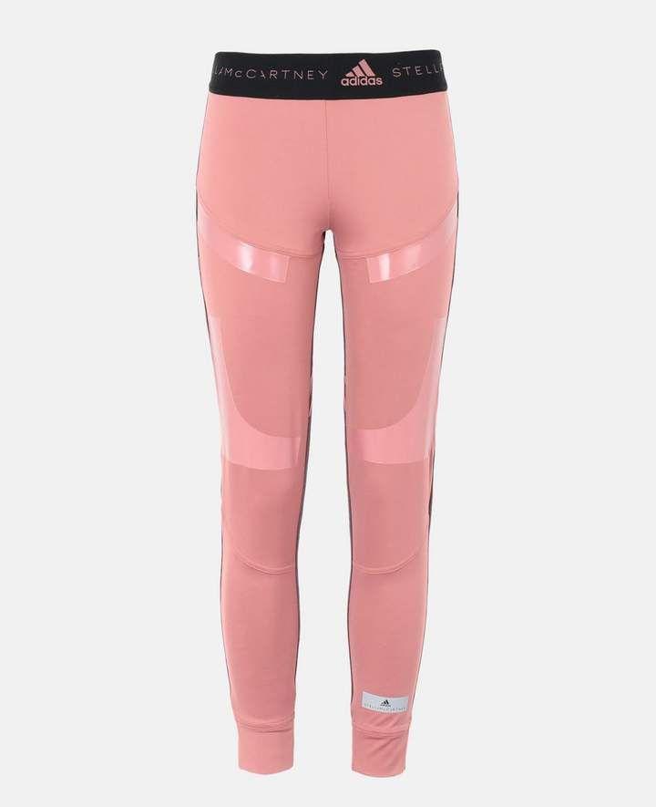 Pink Womens Adidas Stella McCartney Leggings Bottoms Pants Running Fitness Gym