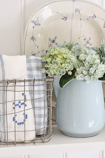 Country Blue Decorating