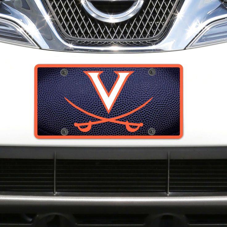 Virginia Cavaliers Team Ball Acrylic Laser-Cut License Plate - $19.99