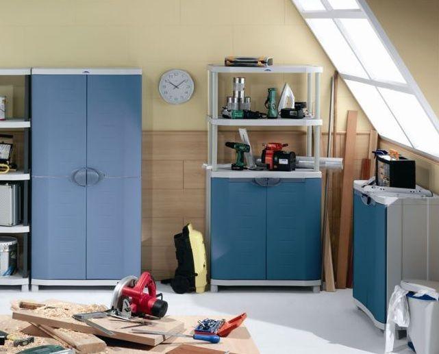 Armarios de resina para ordenar el garaje o trastero decoracion hogar consejos ideas - Armarios para garaje ...
