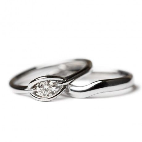 Simple, Unique Engagement U0026 Wedding Ring Sets