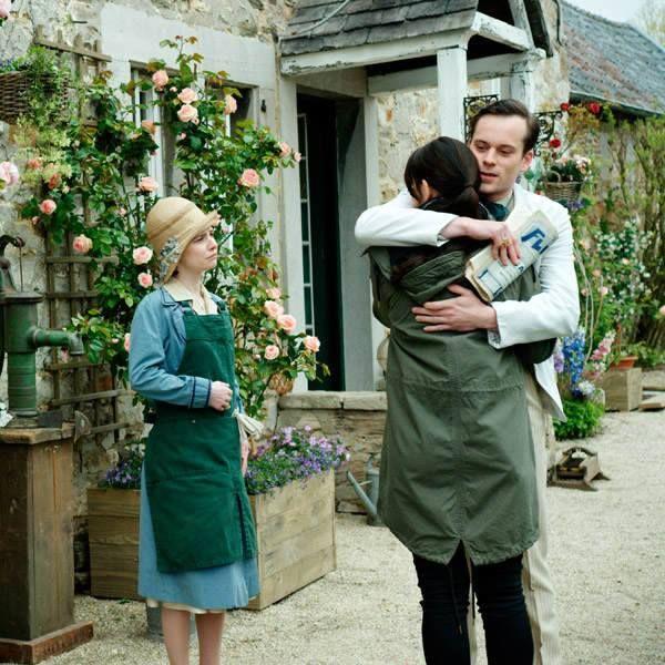 Smaragdgrün - Lucy (Josefine Preuß), Gwendolyn (Maria Ehrich) und Paul (Florian Bartholomäi)
