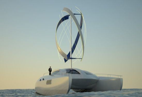 Adamastor SmartWind: Eco friendly electric catamaran powered by wind energy