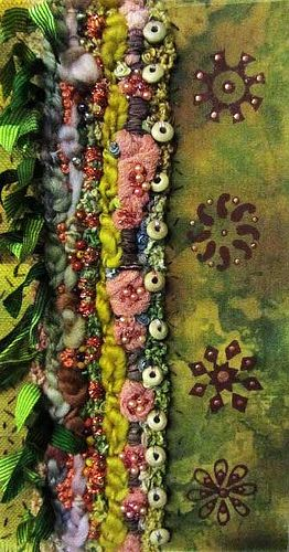 Textile art courses - British textile artist Chris Gray is a contemporary textile designer, artist and embroiderer who teaches wonderful sewing crafts for more textile art ideas visit http://www.mabonarts.co.uk