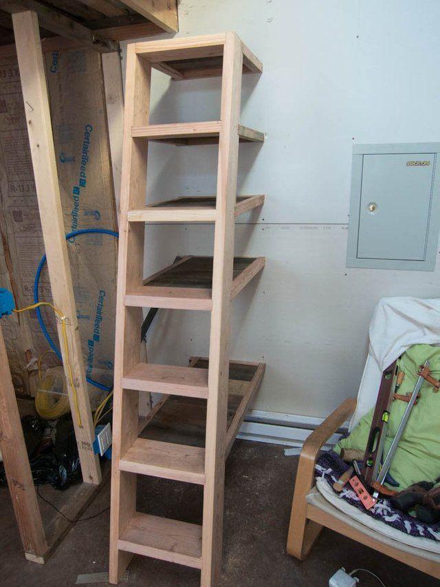 Built A Loft Ladder Bookshelf Cost 0 Woodworking Loft Ladder Ladder Bookshelf House Ladder