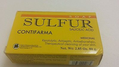 SULFUR SOAP-((BUY 1 GET 1 50 % OFF )) ACNE TREATMENT BARS-JABON AZUFRE 2.85 OZ.