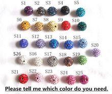 10 мм 20 шт./лот бесплатная доставка можно смешивать цвета, Дискотечный шар шамбалы бусины для ювелирных изделий, Ручной дискотечный шар кристалл бусины HYS001