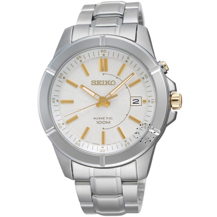 SEIKO Kinetic Stainless Steel Bracelet  233€  http://www.oroloi.gr/product_info.php?products_id=30375