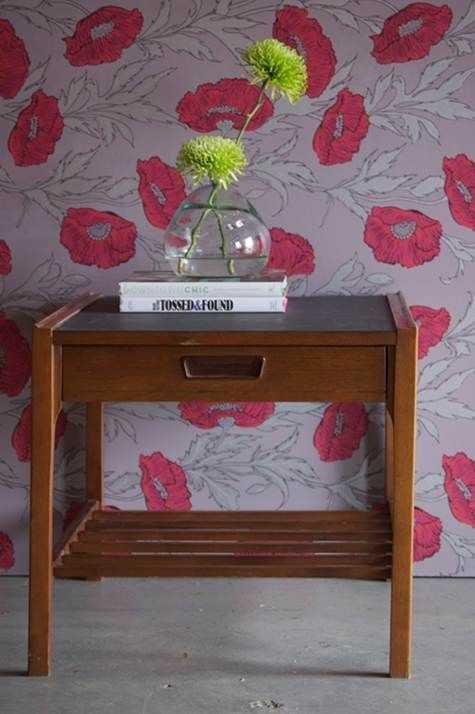 Wallpaper Basics (Before & After Basics on Design*Sponge) - LOVE some of the new wallpapers available these days! Cole & Son Poppy wallpaper