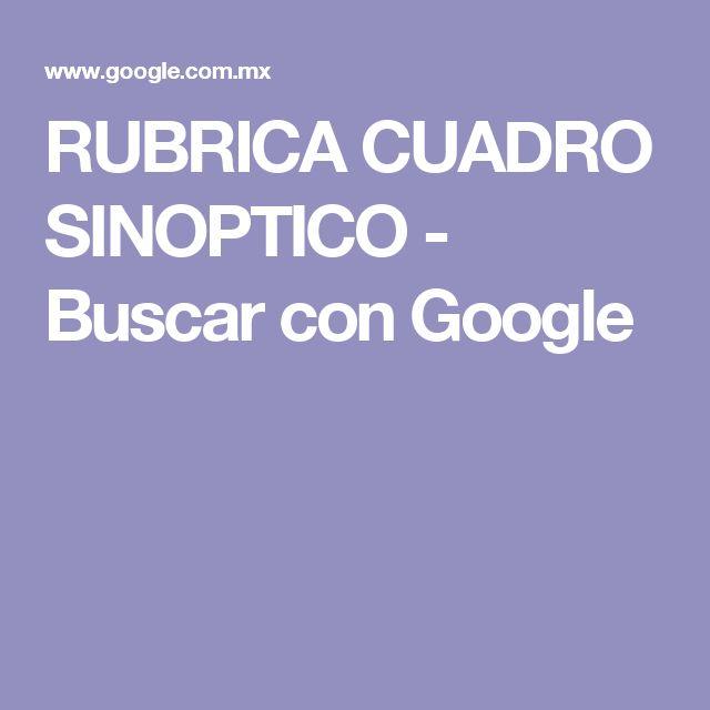 RUBRICA CUADRO SINOPTICO - Buscar con Google