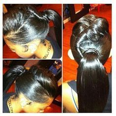 drawstring ponytail hairstyles for black women - Yahoo Image Search Results