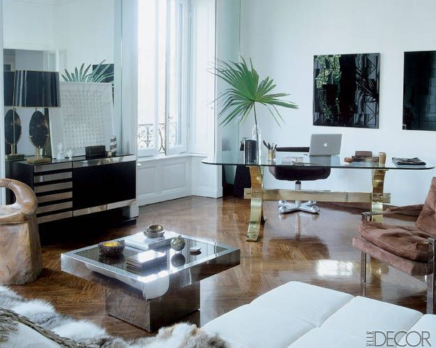 Brian Atwood and Nate Berkus at Home in Milan: Nate Berkus, Nateberkus, Living Rooms, Elle Decor, Offices Spaces, Interiors Design, Corner Offices, Brian Atwood, Home Offices
