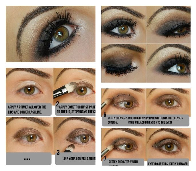 SMOKEY EYES (step by step guide) | makeup and hair ...