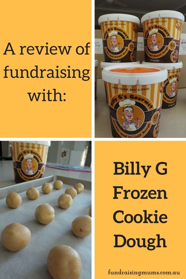 What is involved in a Billy G Frozen Cookie Dough fundraiser and how much $$ can you make?