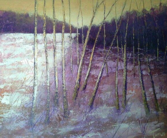 Alba invernale  70x50 cm Luigi Torre painter