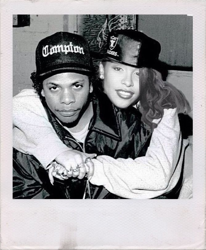 Eazy E con Aaliyah